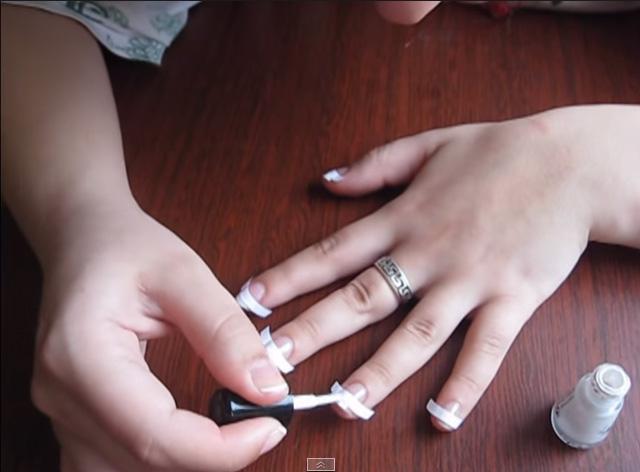 Как сделать белые концы ногтей - Wheelavenue.ru