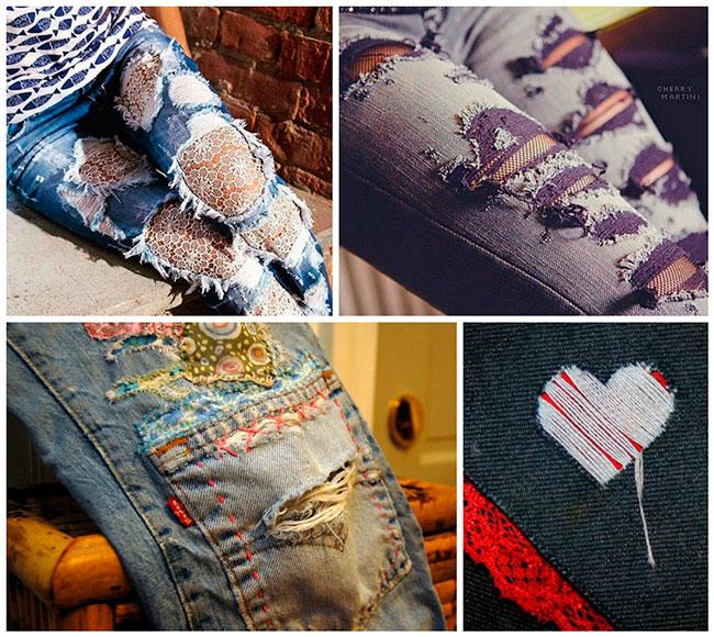 Как сделать маленькие дырки на джинсах своими руками 1