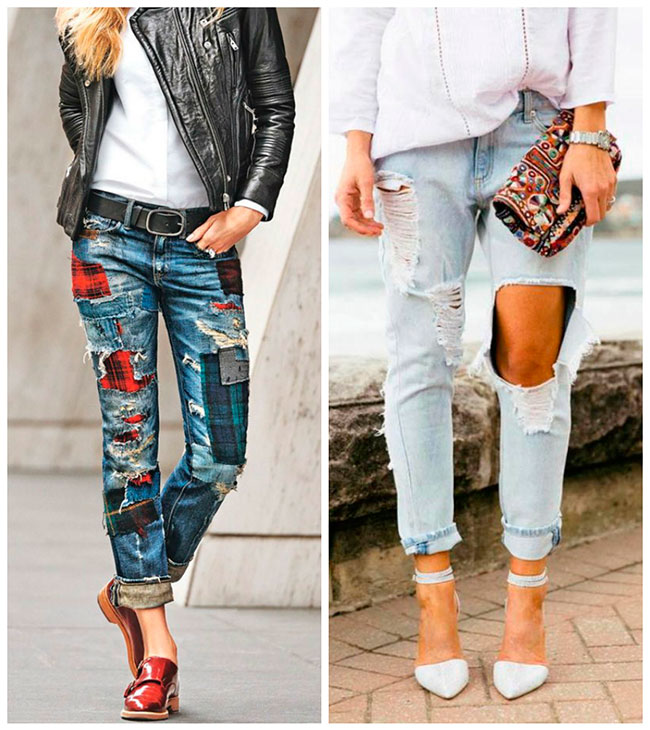 идеи переделок рваных джинсов