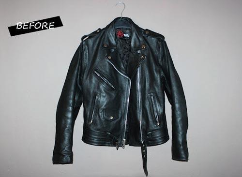 Як оригінально переробити стару куртку  джинсову або шкіряну 2b83ab8b396b7