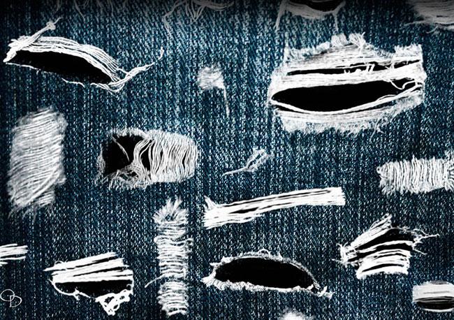 Як красиво порвати джинси в домашніх умовах  як порізати джинси ... da4707c09da61