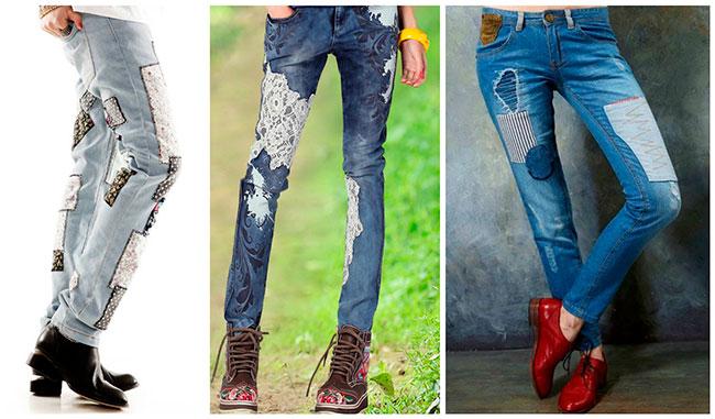 Как из старых джинсов сделать джинсы ребенку 182