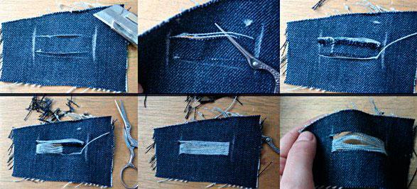 Как правильно порвать джинсы в домашних условиях 99