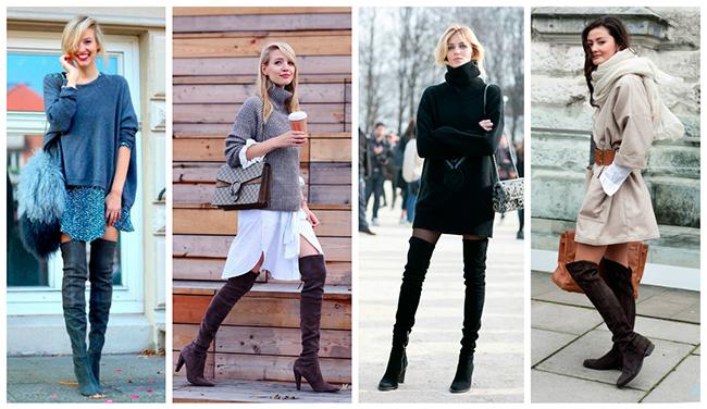 З чим носити ботфорти  модні правила 23c4daaeb4f9e