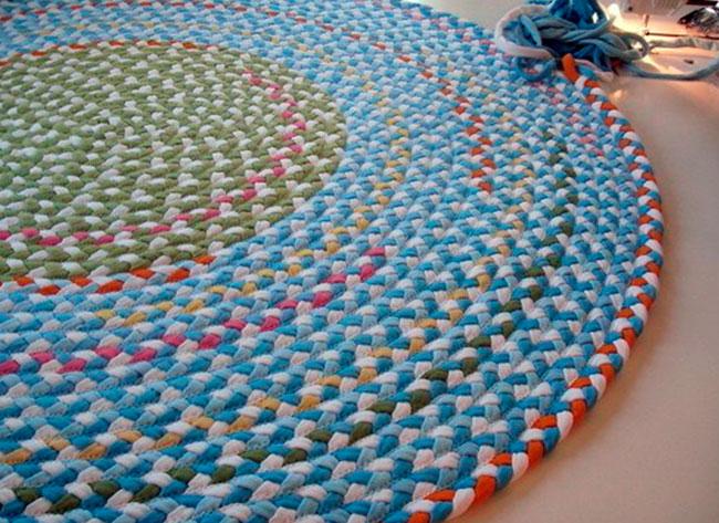 Как сделать коврик для ванны из старых полотенец 701